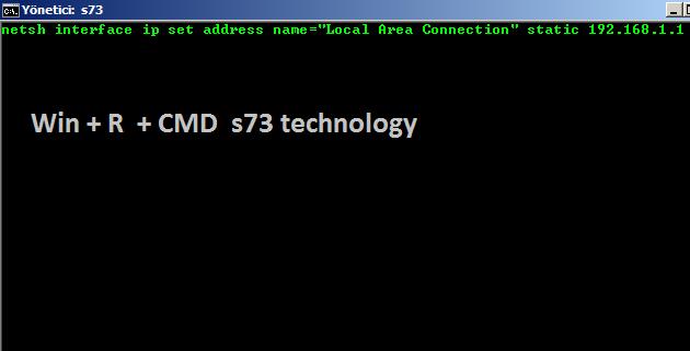 CMD 'ile PC İp Adres Değiştirme Ve Ping atma