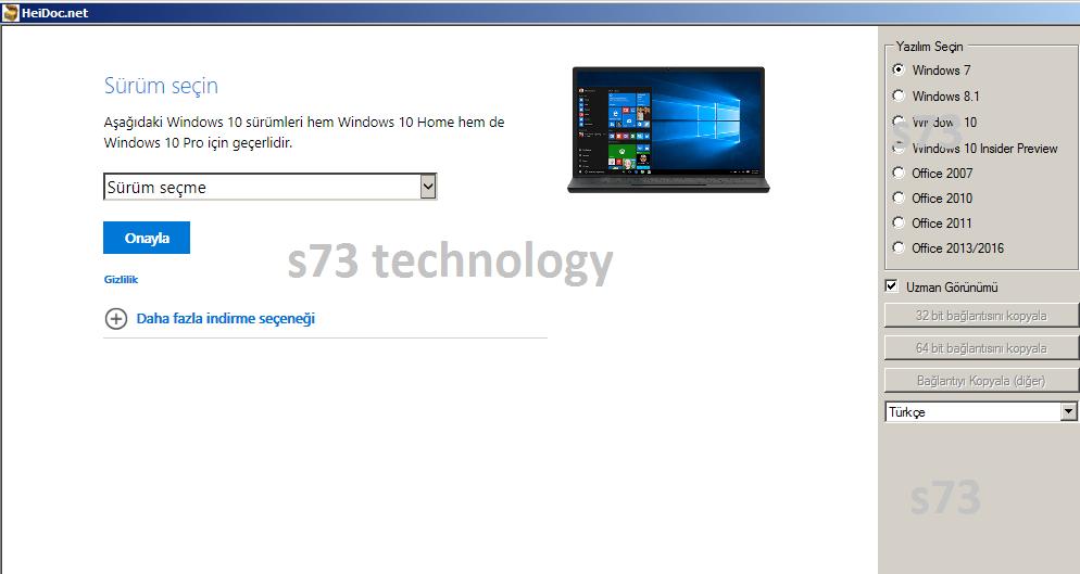 Widows ISO Downloader İle orjinal windows iso indirin