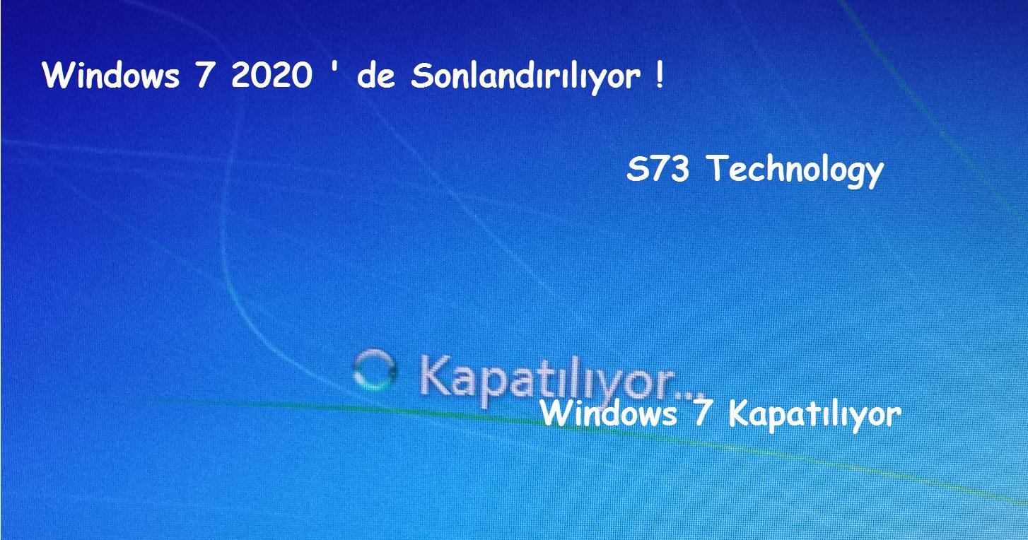 Windows 7 Kapatılıyor