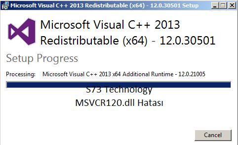 MSVCR120.dll Hatası Çözüldü