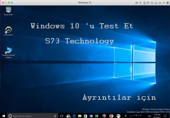 Windows 10 'u Sanal Olarak Test Edin
